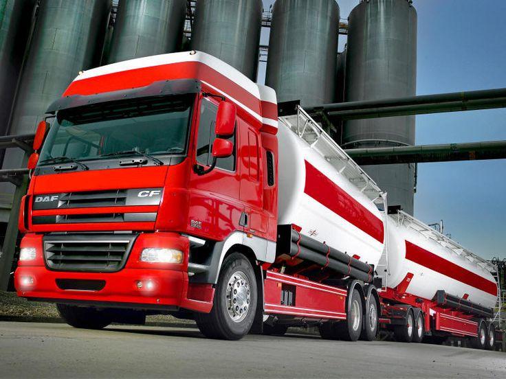 DAF truck, tanks, 7 axles