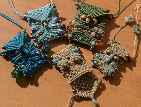 Tutorial n 6 Macrame owl mini-bag necklace /Micro-macrame pendant