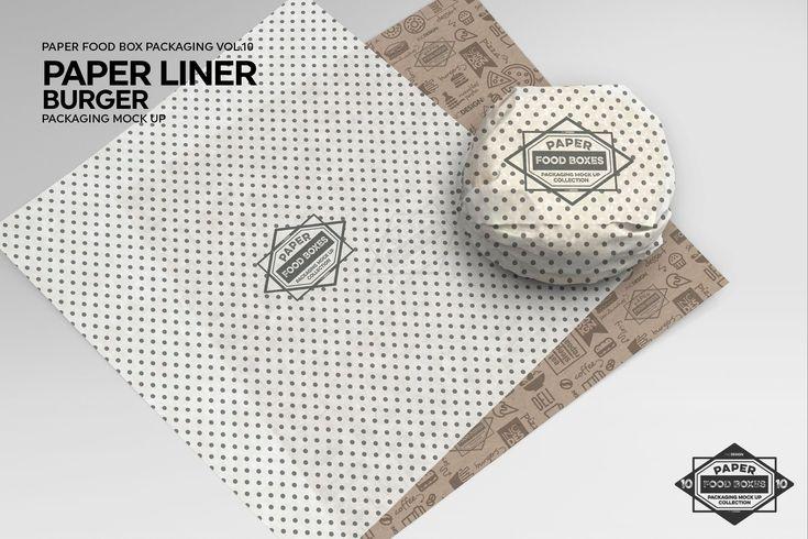 Burger Paper Liner Packaging Mockup Packaging Mockup Paper Liner Burger Packaging