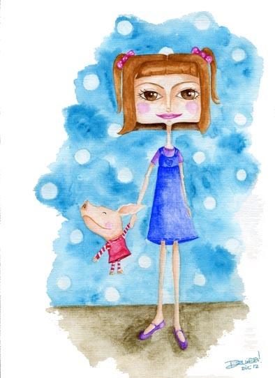 Ilustración Infantil. Una acuarela, puedes repinear si te gusta....