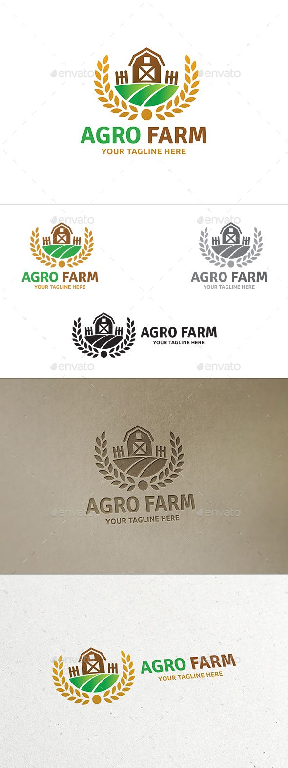 Agro Farm - Logo Design Template Vector #logotype Download it here: http://graphicriver.net/item/agro-farm-logo/14049642?s_rank=269?ref=nesto