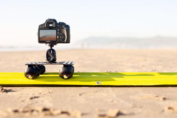 An Inflatable All-Terrain Camera Slider