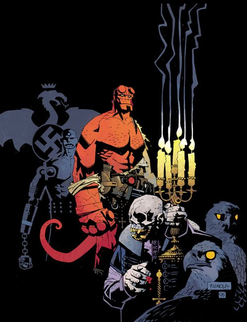 Hellboy by Mike Mignola I love that Hellboy hates nazi's soooo much!