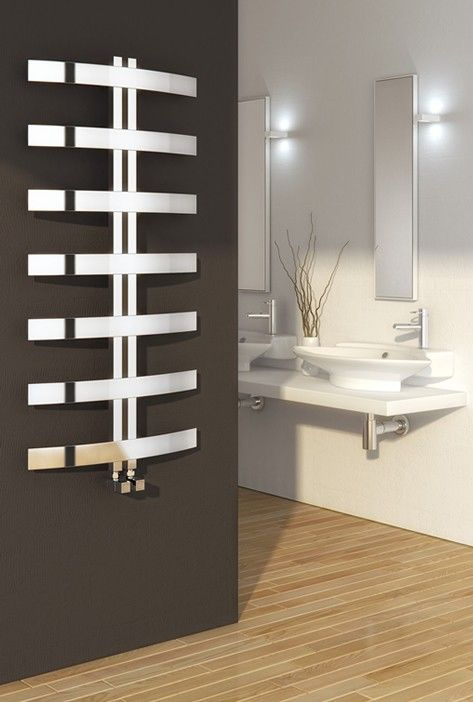 Reina Riesi Polished Steel Towel Radiator 1200 x 600