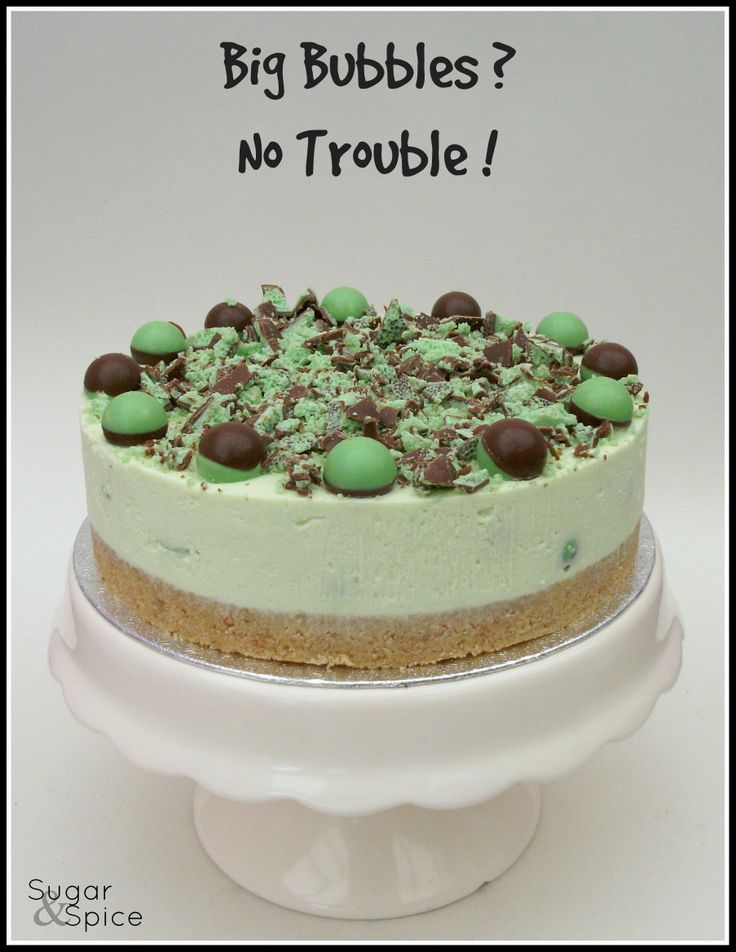 Mint Aero Bubble Cheesecake https://www.facebook.com/SugarandSpiceGourmandise