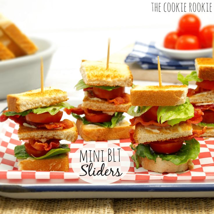 Mini BLT sliders are cute, easy, and delicious!! These are the perfect easy meal to take to a pool party or BBQ. These are a hit every time!