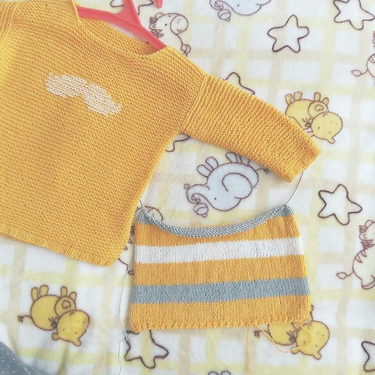 Усы детский свитер спицами knitted sweater