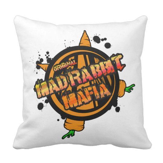 Mad Rabbit Throw Cushion 41 cm x 41 cm