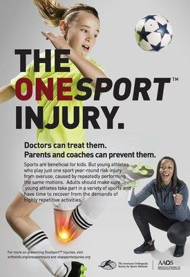 New campaign tackles falls prevention youth sports specialization and the importance of lifelong activity for healthy bones and joints              NEW ORLEANS March 9 2018 /PRNewswire-USNewswire/The American Academy of Orthopaedic Surgeons (AAOS) today unveiled its 2018 public service advertising (PSA) campaigna print ad focusing on youth sports specialization a radio spot highlighting falls prevention among the elderly and a television spot which focuses on the vital role of families in…