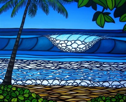 Heather Brown surf art... I like the palm tree in this one