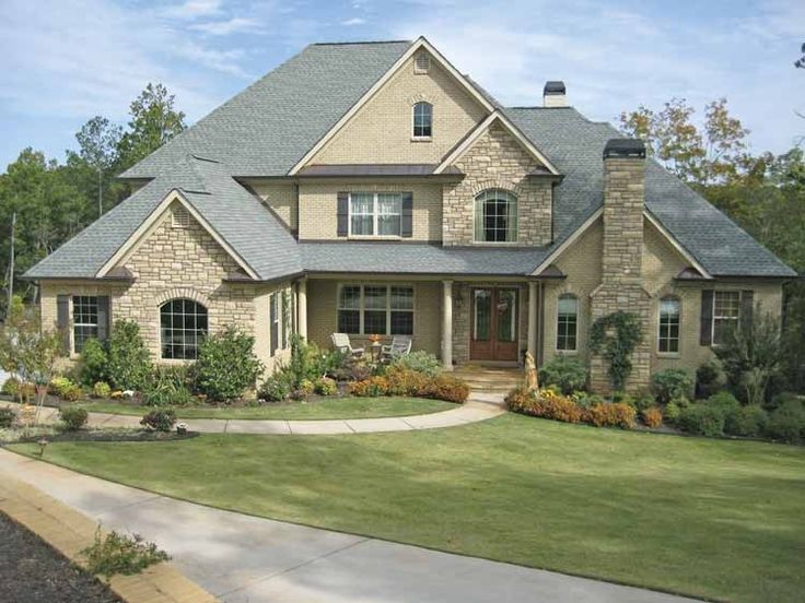 New American House Plan with 4138 Square Feet and 4 Bedrooms from Dream Home Source | House Plan Code DHSW55199