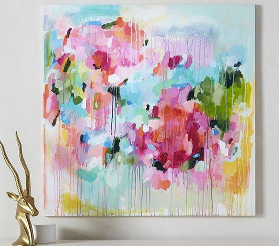 Floral Color Pop Canvas Wall Art | Pottery Barn Kids