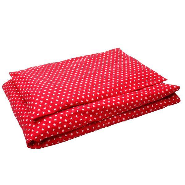 Bettwäsche groß rot Sterne weiß von Sugarapple via dawanda.com