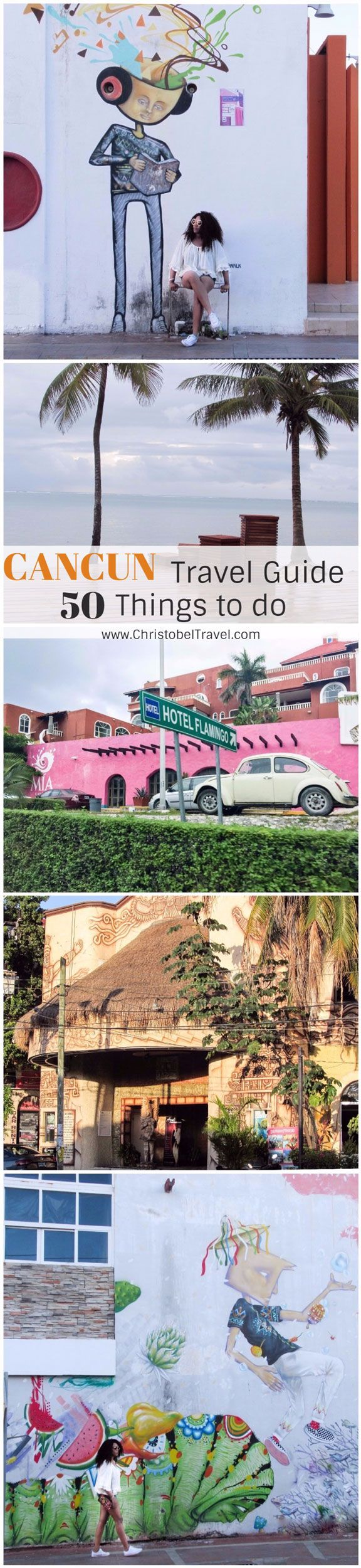 Cancun Travel Guide: 50 Things to do in #Cancun, Yucatan, Mexico. Activities include dolphins, hotel zone area / zona hotelera, downtown quintana roo, nightlife, restaurants, Mayan ruins, shopping, underwater museums & caves, xcaret riviera maya, xplor, yacht to playa del carmen. All inclusive resorts / destination beach weddings, honeymoon & engagements. Excursions / Day trips to Chichen Itza & Cenote Ik Kil. Explore family vacations, girls trip ideas, tips, photography #christobeltravel