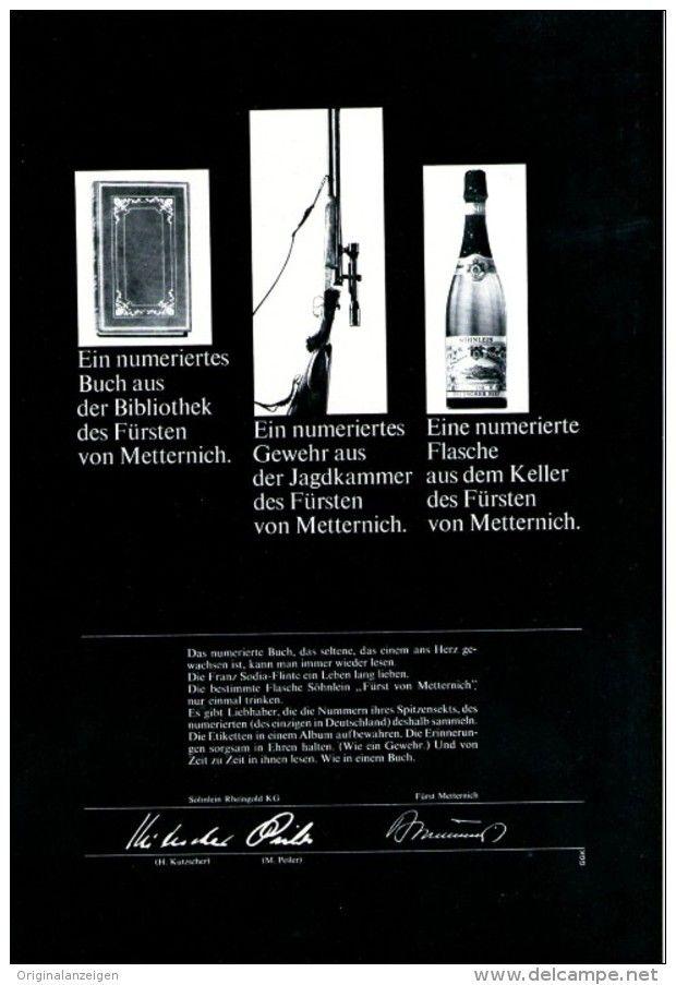 Original-Werbung/ Anzeige 1966 - SÖHNLEIN / FÜRST VON METTERNICH SEKT - ca. 180 x 240 mm