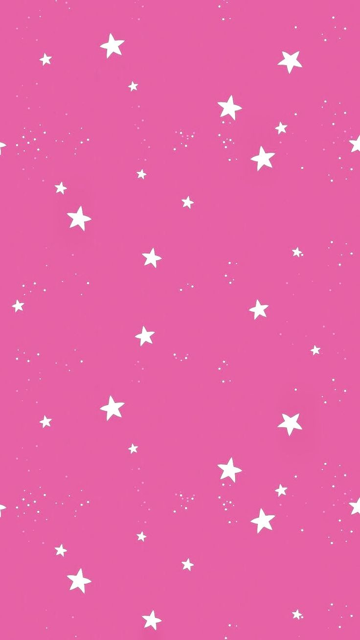 Fondo magenta con estrellitas blancas | Magenta background with little white stars - #fondos rosados #pink backgrounds #pink wallpapers