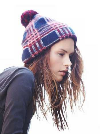 We need this Free People Printed Pom Pom Beanie to keep us warm.