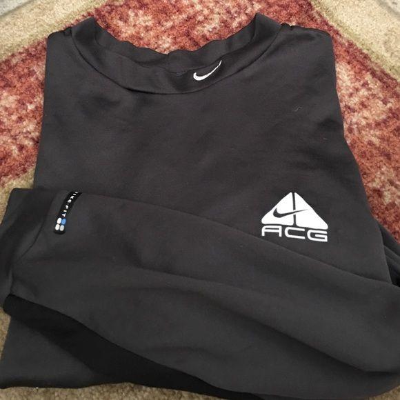 Nike Long Sleeved Dryfit Women's Drifit ACG dark grey women's running top. Nike Tops Tees - Long Sleeve