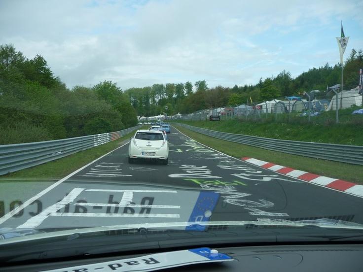 Nissan Leaf Test: Leaf beim ADAC RWE eKorso 2012 –