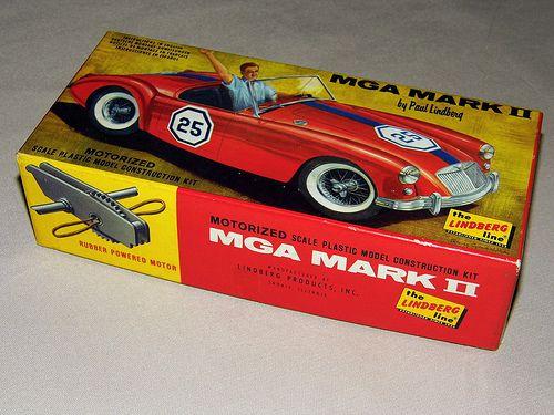 Vintage MGA Mark II Motorized Plastic Model Kit by ...