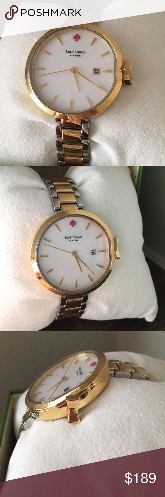 Kate Spade two tone silver & gold watch KSW1338 New in box with tags attached! Kate Spade silver and gold two tone stainless steel link watch. Style KSW1338. Round dial with date window. Open to offers! No trades! kate spade Accessories Watches
