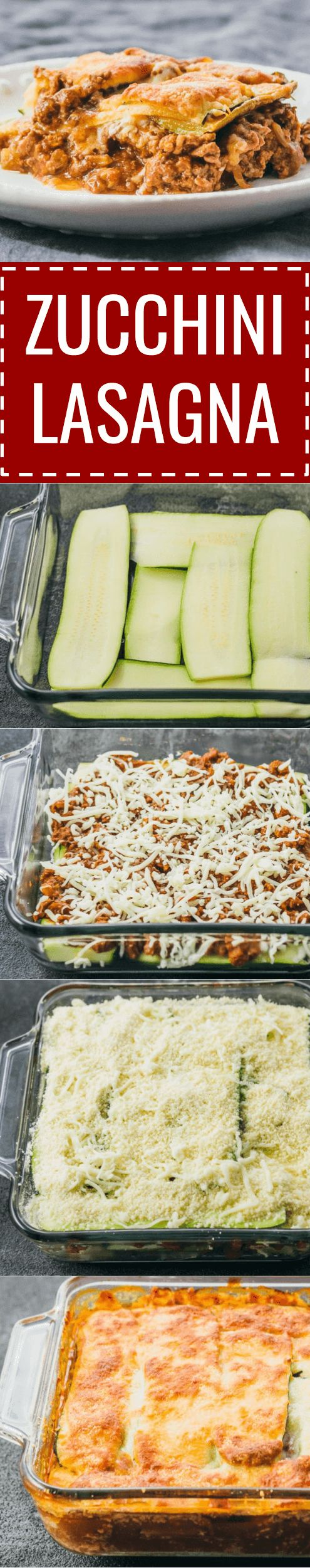 This easy zucchini lasagna is a great low carb and healthy alternative to your typical lasagna. keto / low carb / diet / atkins / meals / recipes / easy / dinner / lunch / foods / healthy / gluten free / easy / recipe / healthy / with meat / noodles / best / weight watchers / clean eating / no ricotta / shredded / beef / bake / make ahead / simple / mozzarella / calories / bolognese / roasted / lattice / dinners / dishes / onions #lasagna #healthy #dinner #lowcarb