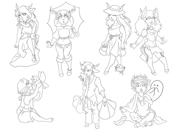 phone charms Fauns by TexMexChexMex on DeviantArt