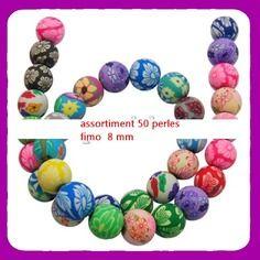 Decochic fimo    perles en pate polymère faites à la main  ronde  loisirs créatifs fimo loisirs creatifs loisirs créatif