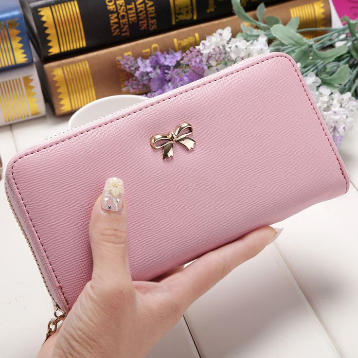 Women Wallets Purses 2016 Fashion Wallets Female Zipper PU Cute Leather Solid wallet Coin clutch phone bag carteras mujer B005