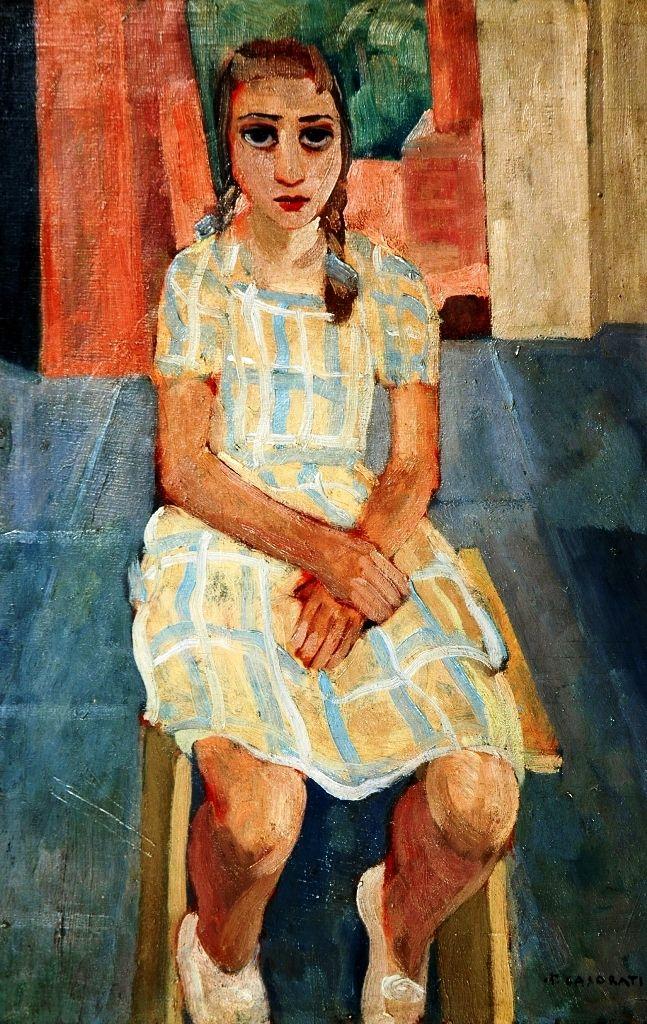 Felice Casorati (Italian, 1883-1963) : Fanciulla seduta, 1933.