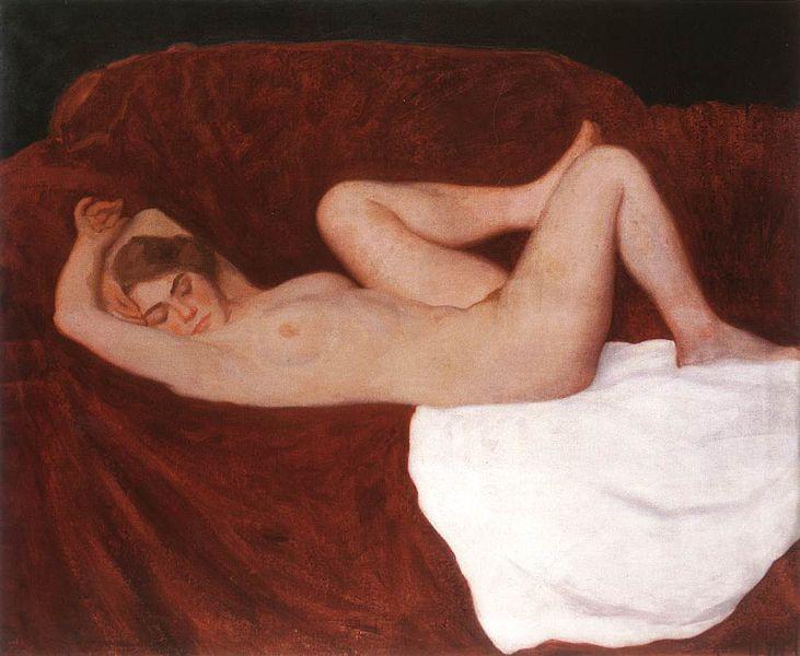 Ferenczy, Károly - Sleeping Woman (1912)