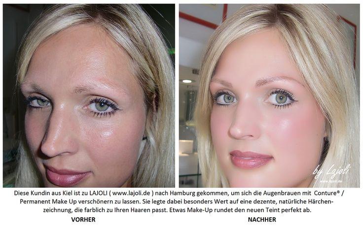 #Augenbrauen - #PermanentMakeUp kann auch bei blonden ...