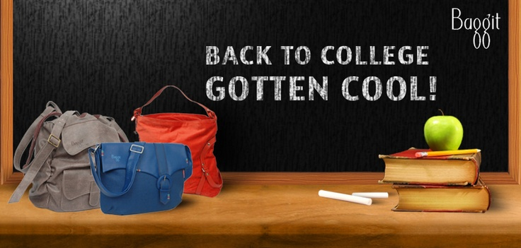 Pep up your college days with these fab and fun accessories available at www.baggit.com !