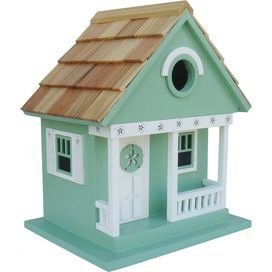 Beach Cottage Birdhouse in Teal