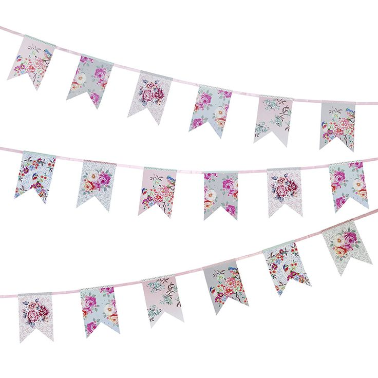 Truly Romantic Floral Bunting   Talking Tables   Talking Tables