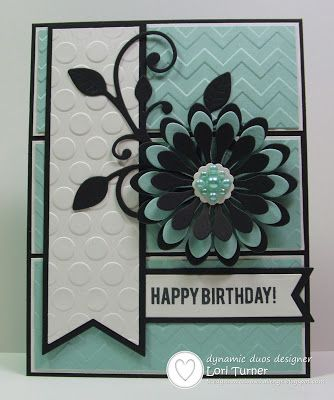 Dynamic Duos: Dynamic Duos #66-Light Aqua and Black with the OPTION of Embossing