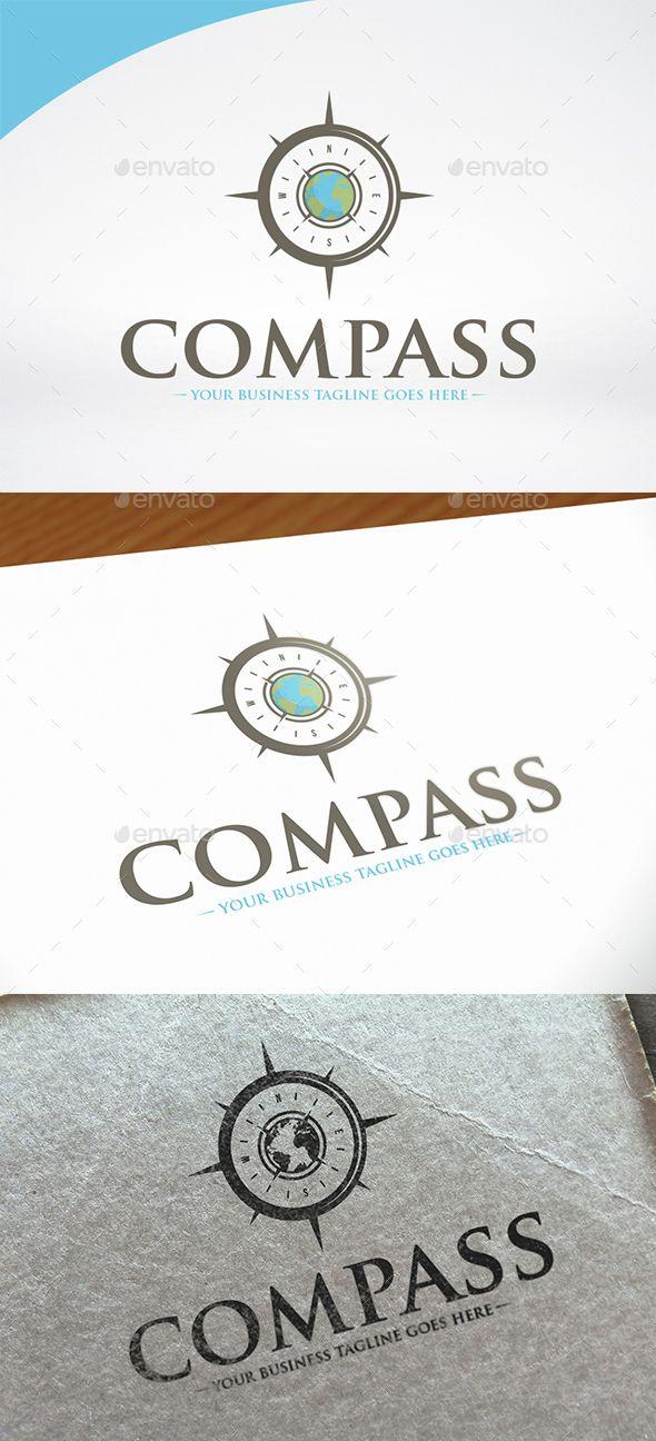 World Compass Logo Template PSD, Vector EPS, AI. Download here: http://graphicriver.net/item/world-compass-logo-template/15276190?ref=ksioks