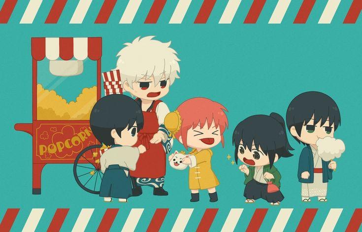 Pixiv Id 540, Gin Tama, Sakata Gintoki, Kagura (Gin Tama), Shimura Shinpachi, Katsura Kotaro, Takasugi Shinsuke