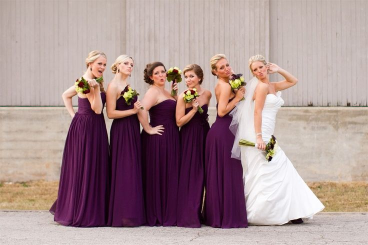 red and purple wedding theme | Purple and Love the Purple Bridesmaids Dresses!