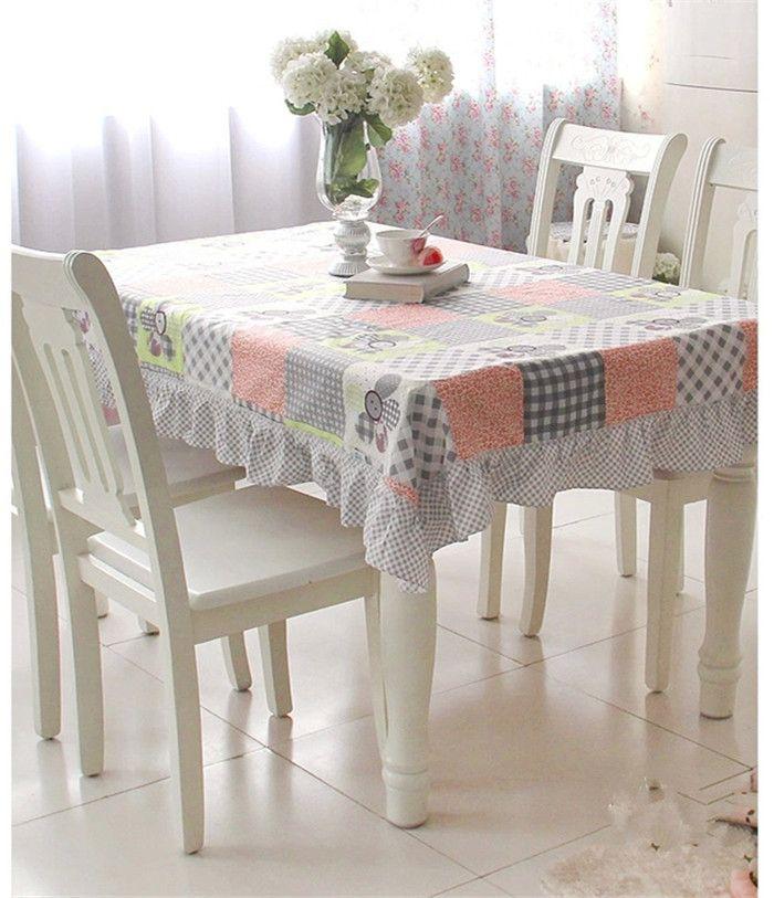 МК Корейский Пастырской оборками ткань MHSG обеденный стол обложка установить скатерть обеденный стол крышка стула скатерть стул подушки