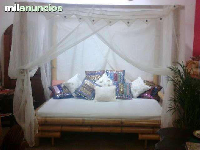 . camas balinesas incluye portes cortinas y cojines. www.balindia.es