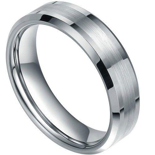 Dynamis Beveled Tungsten Ring 7mm