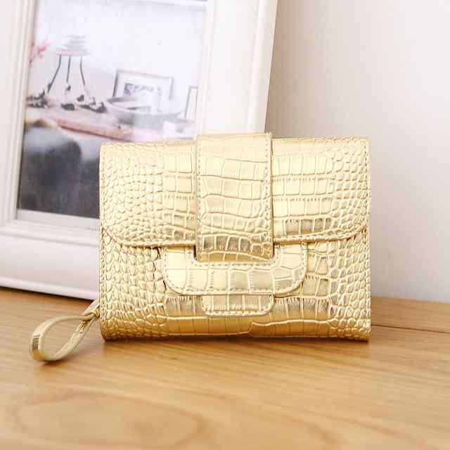 OTHERCHIC Designer Women Short Clutch Alligator Wallets Ladies Small Wallet Coin Pocket Women Female Purse Money Clip 6N07-05