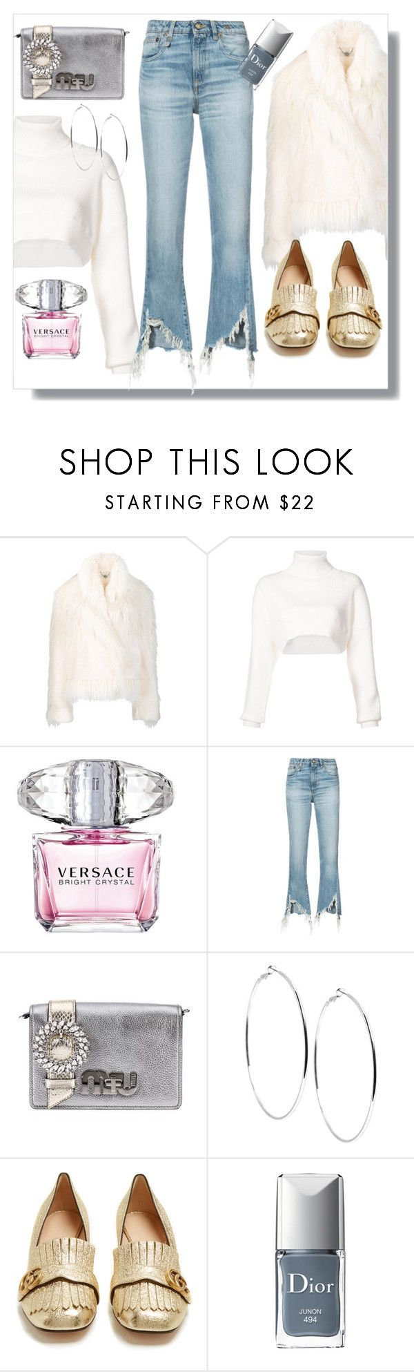 """""""Shimmy Shimmy: Fringe"""" by lovelysmilejanel ❤ liked on Polyvore featuring STELLA McCARTNEY, Alexandre Vauthier, Versace, R13, Miu Miu, GUESS, Gucci, Christian Dior and fringe"""