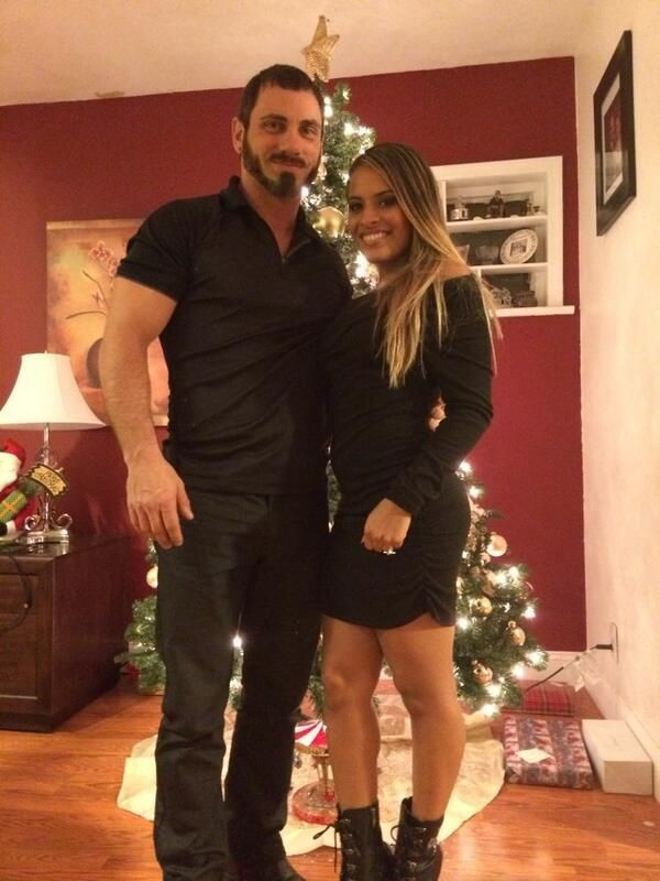 Austin Aries & Thea Trinidad celebrating the holidays