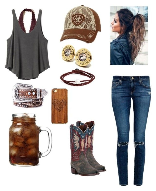 """""""Those Sunshine Days"""" by babyinblue on Polyvore featuring AG Adriano Goldschmied, Dan Post, Hollister Co., RVCA, Nocona, Ariat, Lokai and Toast"""