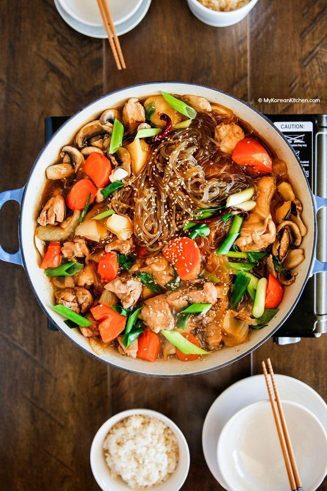 How to make Jjimdak - a popular Korean braised chicken   MyKoreanKitchen.com
