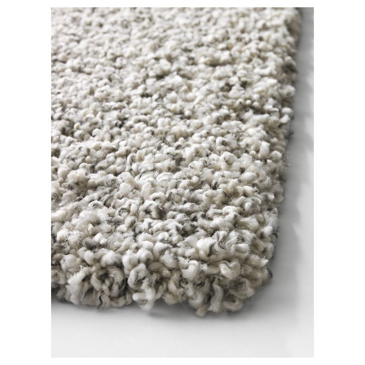 ikea alhede rug high pile offwhite cm the dense thick pile dampens sound and provides a soft surface to walk on