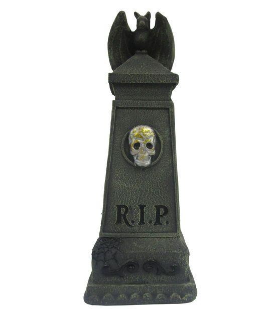 RIP Tombstone With Gargoyle