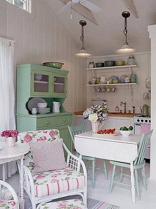 deco shabby chic cuisine 1 cuisine et jolis torchons pinterest. Black Bedroom Furniture Sets. Home Design Ideas